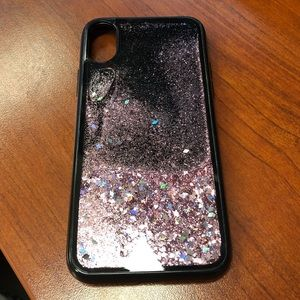 Accessories - iPhone 10 X Cell Phone Case Pink Glitter
